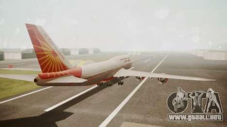 Boeing 747-8I Air India para GTA San Andreas left