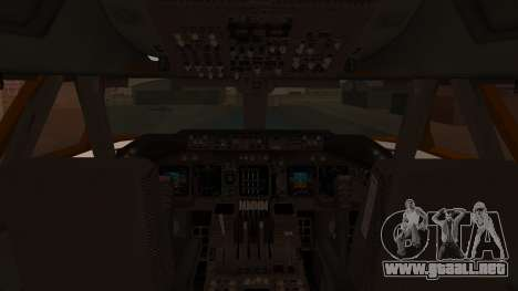 Boeing 747SR All Nippon Airways (NC) para visión interna GTA San Andreas