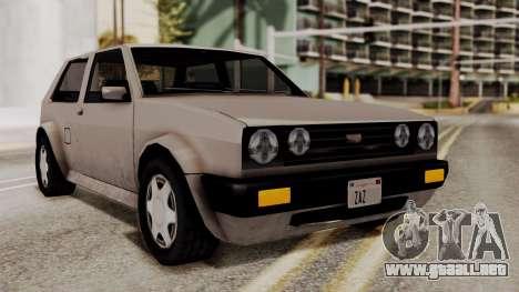 Updated Club Beta v2 para GTA San Andreas vista posterior izquierda