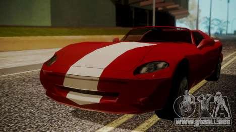 Banshee Edition 2015 para GTA San Andreas vista posterior izquierda