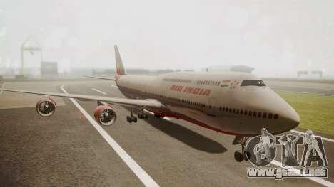 Boeing 747-8I Air India para GTA San Andreas