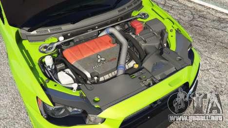 GTA 5 Mitsubishi Lancer Evolution X FQ-400 vista lateral derecha