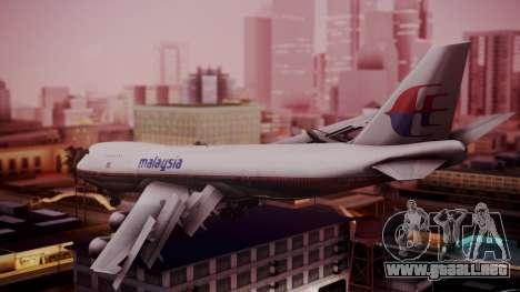 Boeing 747-200 Malaysia Airlines para GTA San Andreas left