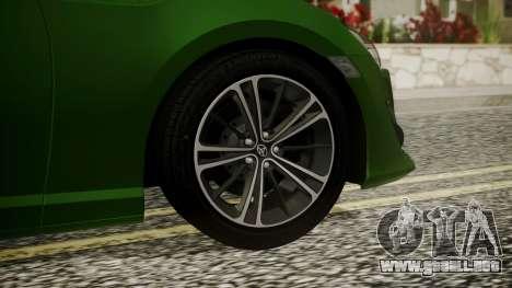 Toyota GT86 2012 para GTA San Andreas vista posterior izquierda