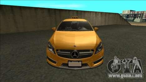 Mercedes-Benz A45 AMG Taxi 2012 para la visión correcta GTA San Andreas