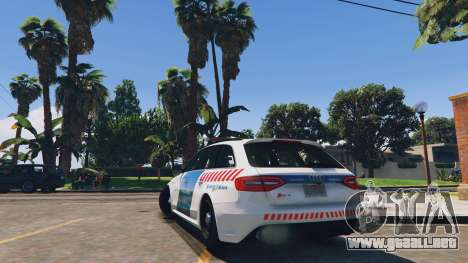 Audi RS4 Avant Hungarian Police para GTA 5