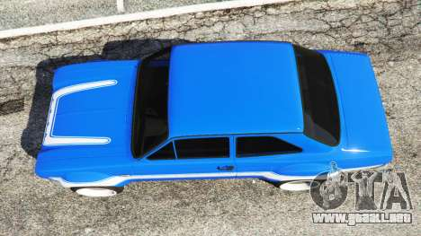 GTA 5 Ford Escort Mk1 v1.1 [blue] vista trasera