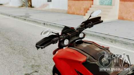 Ducati Hypermotard para GTA San Andreas vista hacia atrás