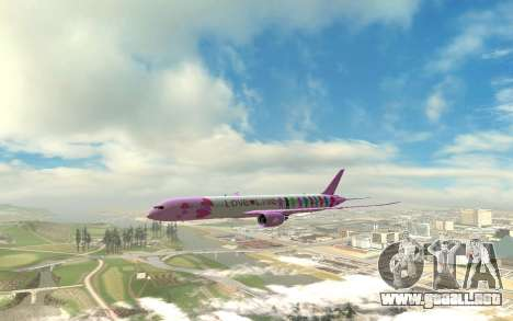 LoveLive Boeing 787-9 Livery para GTA San Andreas