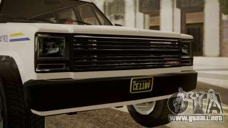 GTA 5 Declasse Rancher XL Police IVF para la visión correcta GTA San Andreas