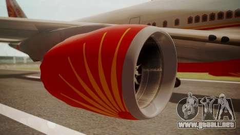 Boeing 747-8I Air India para la visión correcta GTA San Andreas