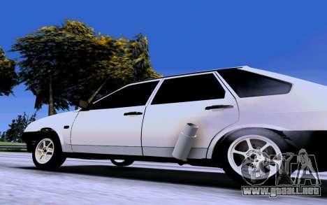 VAZ 2109 Turbo para GTA San Andreas vista posterior izquierda