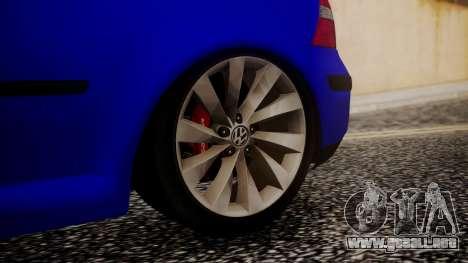 Volkswagen Golf 4 para GTA San Andreas vista posterior izquierda