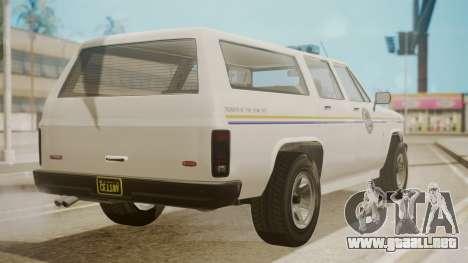 GTA 5 Declasse Rancher XL Police IVF para GTA San Andreas left