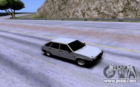 VAZ 2109 Turbo para la vista superior GTA San Andreas