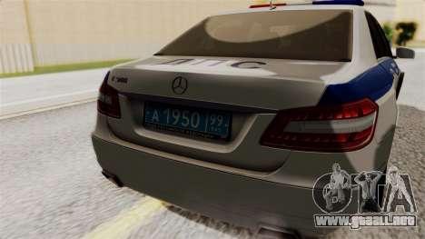 Mercedes-Benz E500 Ministerio del interior, la p para GTA San Andreas vista hacia atrás