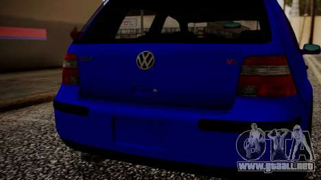 Volkswagen Golf 4 para GTA San Andreas vista hacia atrás