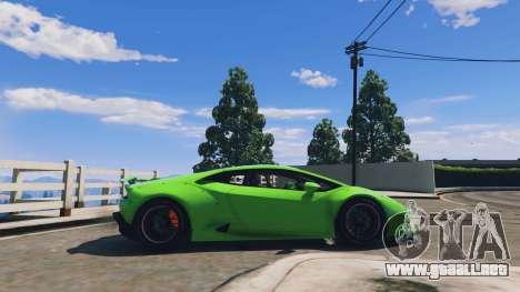 GTA 5 LibertyWalk Lamborghini Huracan vista lateral izquierda