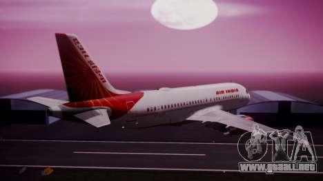 Airbus A319-100 Air India para GTA San Andreas left