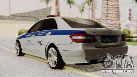 Mercedes-Benz E500 Ministerio del interior, la p para GTA San Andreas left