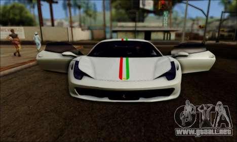 Ferrari 458 Italia 2010 para la visión correcta GTA San Andreas