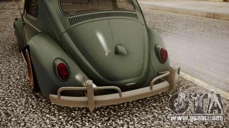 Volkswagen Beetle Aircooled para GTA San Andreas vista hacia atrás