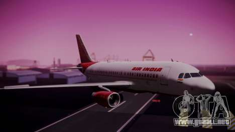 Airbus A319-100 Air India para GTA San Andreas