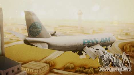 Boeing 747-100 Pan Am Clipper Juan T. Trippe para GTA San Andreas left
