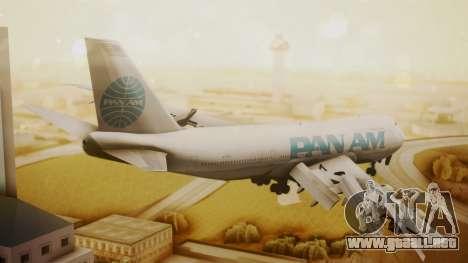 Boeing 747-100 Pan Am Clipper Juan T. Trippe para GTA San Andreas left