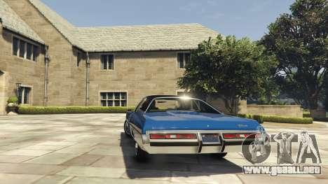 GTA 5 Chevrolet Impala 1972 vista lateral izquierda trasera