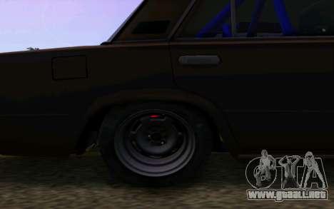 VAZ 2101 Coche para GTA San Andreas vista hacia atrás