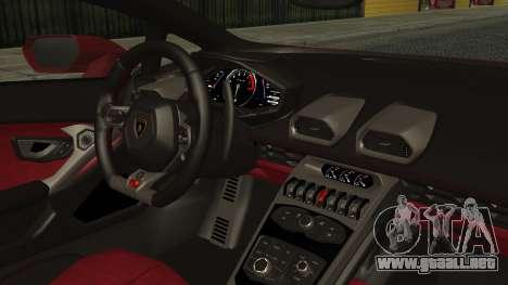 Lamborghini Huracan LP-610 VELLANO para la visión correcta GTA San Andreas