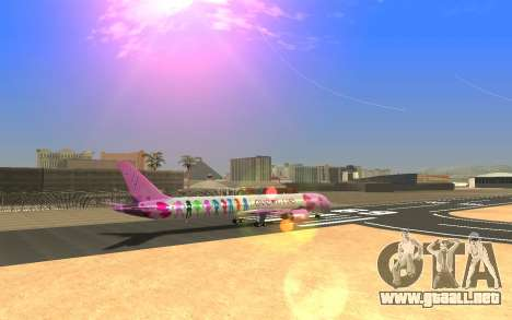 LoveLive Boeing 787-9 Livery para GTA San Andreas left