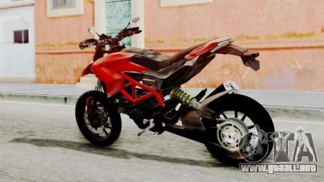 Ducati Hypermotard para GTA San Andreas left