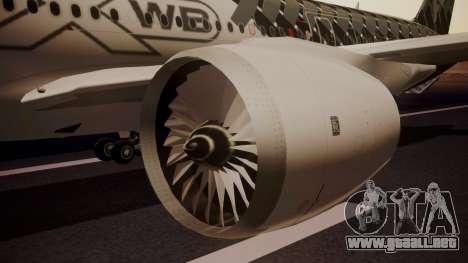 Airbus 350-900XWB MSN2 Carbon Livery para la visión correcta GTA San Andreas