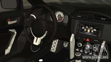 Toyota GT86 2012 para la visión correcta GTA San Andreas