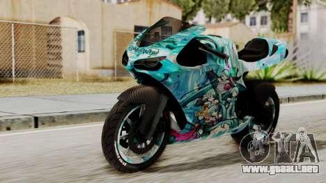 Bati Motorcycle Hatsune Miku Itasha para GTA San Andreas