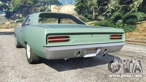 GTA 5 Plymouth Road Runner 1970 [fix] vista lateral izquierda trasera