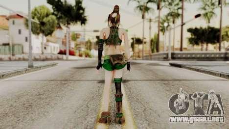 Dynasty Warriors 8 - Bao Sannian Green Costume para GTA San Andreas tercera pantalla