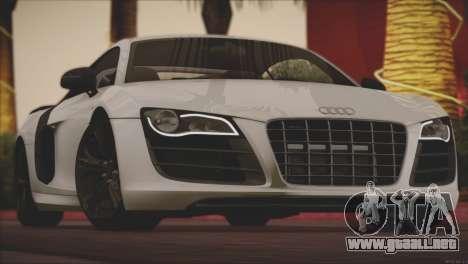 Audi R8 GT 2012 Sport Tuning V 1.0 para vista inferior GTA San Andreas