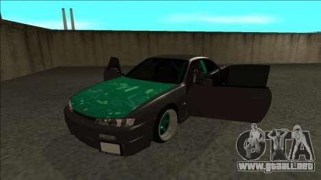 Nissan 200sx Drift para GTA San Andreas vista hacia atrás