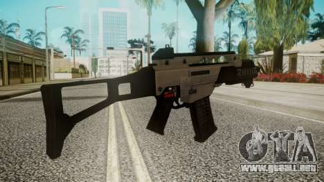 G36C Silver para GTA San Andreas segunda pantalla