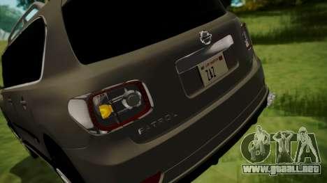 Nissan Patrol IMPUL 2014 para vista inferior GTA San Andreas