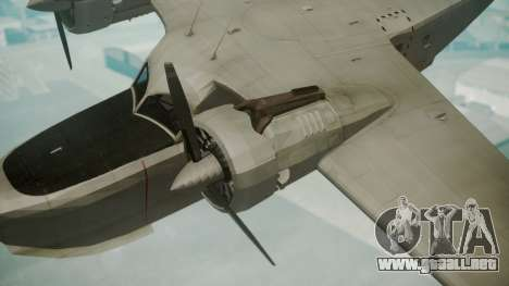 Grumman G-21 Goose Grey para la visión correcta GTA San Andreas