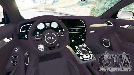 GTA 5 Audi RS4 Avant 2014 vista lateral trasera derecha