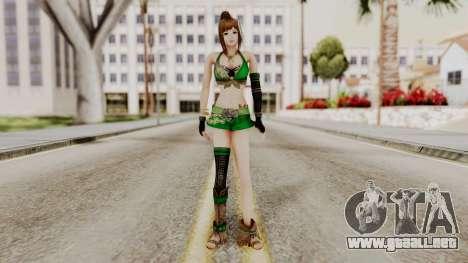 Dynasty Warriors 8 - Bao Sannian Green Costume para GTA San Andreas segunda pantalla