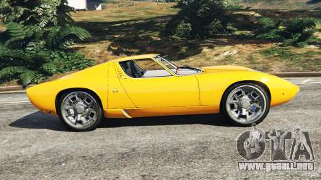 GTA 5 Lamborghini Miura P400 1967 vista lateral izquierda