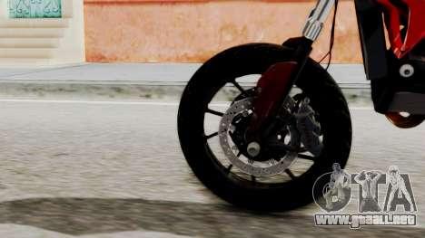 Ducati Hypermotard para GTA San Andreas vista posterior izquierda