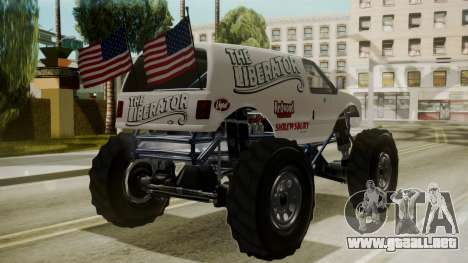 GTA 5 Vapid The Liberator para GTA San Andreas left
