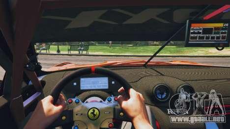 GTA 5 Ferrari 599XX Super Sports Car vista trasera